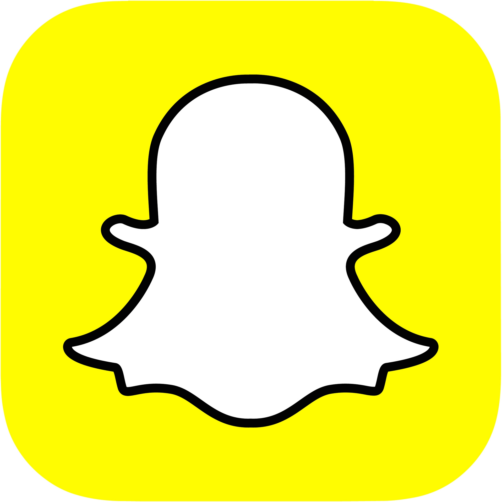 Ambitious image regarding printable snapchat logo