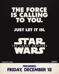 star wars force awakens poster retro 1