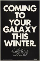 star wars force awakens poster retro 2