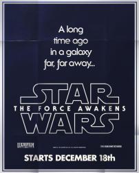 star wars force awakens poster retro 3