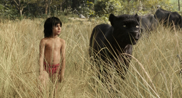 THE JUNGLE BOOK - (L-R) MOWGLI and BAGHEERA. ©2015 Disney Enterprises, Inc. All Rights Reserved.