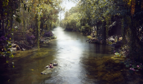 THE JUNGLE BOOK - (Pictured) MOWGLI and BALOO. ©2015 Disney Enterprises, Inc. All Rights Reserved.