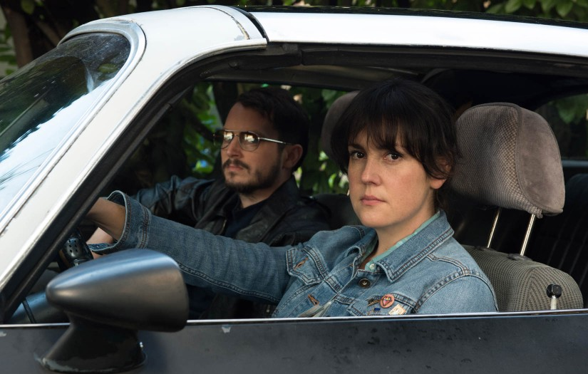 Melanie Lynskey and Elijah Wood appear in I Don't Feel at Home in This World Anymore by Macon Blair, an official selection of the U.S. Dramatic Competition at the 2017 Sundance Film Festival. © 2016 Sundance Institute   photo by Allyson Riggs.