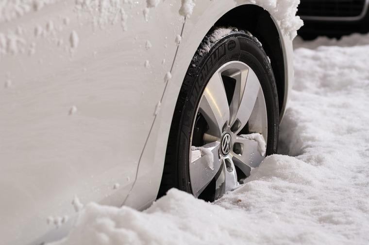 stuck tire