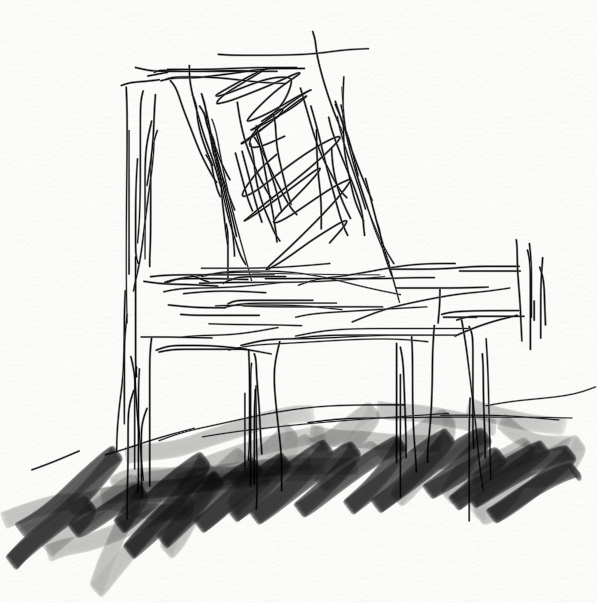 empty chair sketch